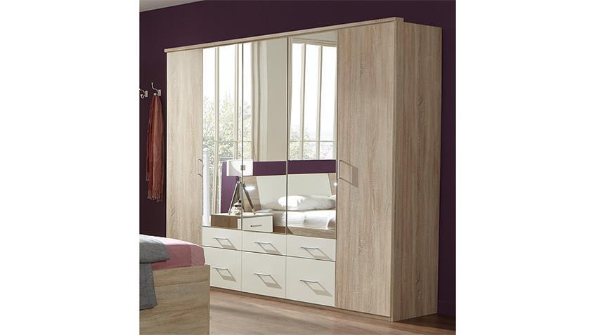 Schlafzimmer-Set TRENTO Sonoma Eiche und Weiß