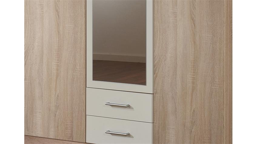Kleiderschrank POLO Sonoma Eiche sägerau und Weiß B 135 cm