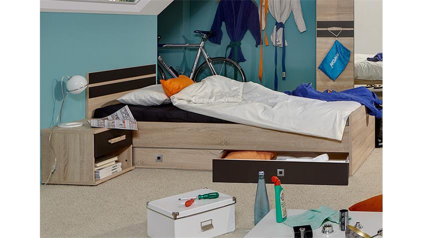 Jugendzimmer-Set 2 GAME Sonoma Eiche sägerau und Lavafarbig