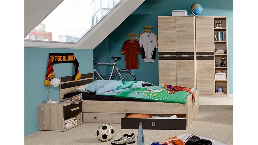 Jugendzimmer-Set 3 GAME Sonoma Eiche sägerau und Lavafarbig