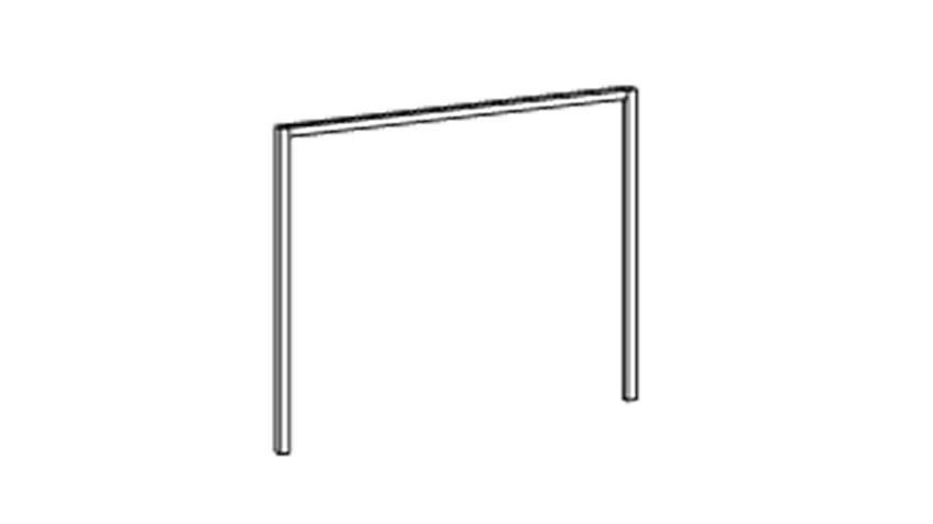 Passepartoutrahmen BERT weiß, Breite 225 cm