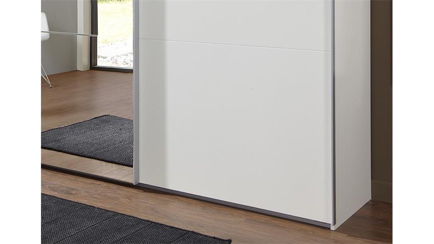 Schwebetürenschrank MATCH UP weiß Spiegel 313x210 cm
