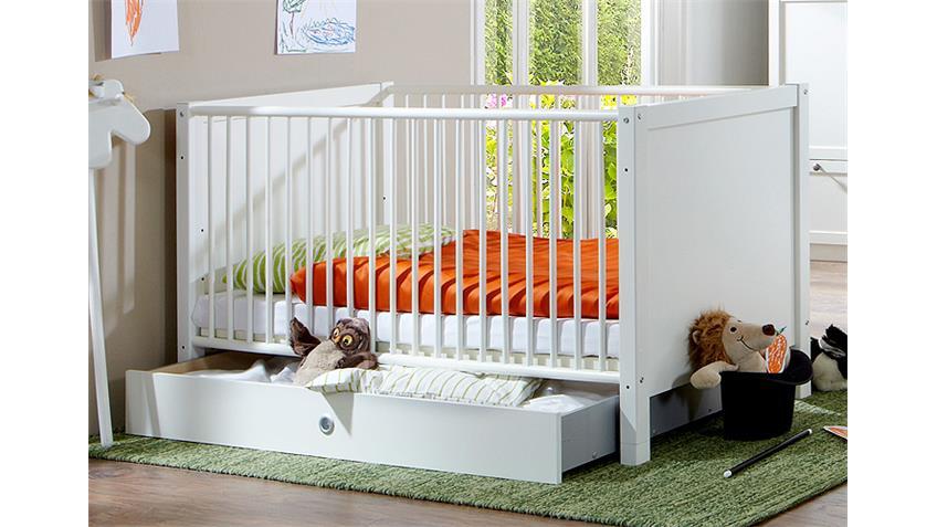 babybett filou kinderbett in alpinwei mit lattenrost 70x140. Black Bedroom Furniture Sets. Home Design Ideas