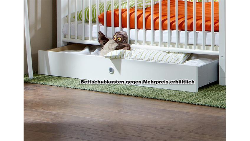 Babybett Filou Kinderbett in Alpinweiß mit Lattenrost 70x140