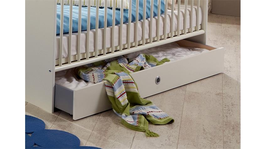 Bettkasten BIBI Alpinweiß Dekor hergestellt in Deutschland