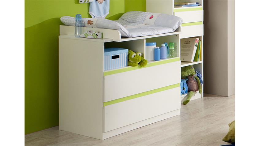 Babyzimmer BIBI 4-teilig weiß und apfelgrün