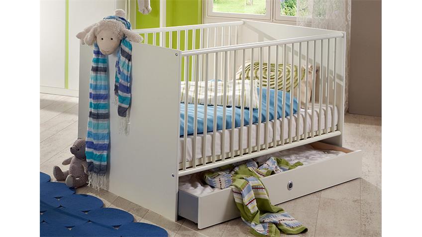 Babyzimmer BIBI 7-teilig weiß und apfelgrün