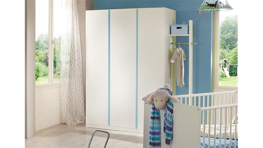 Babyzimmer BIBI 7-teilig Weiß und Iceblau