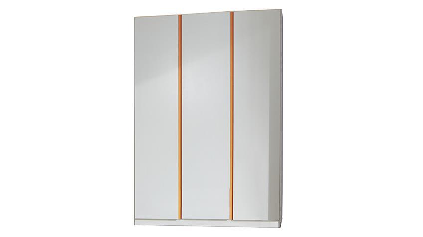 Kleiderschrank BIBI 3trg. Weiß und Orange