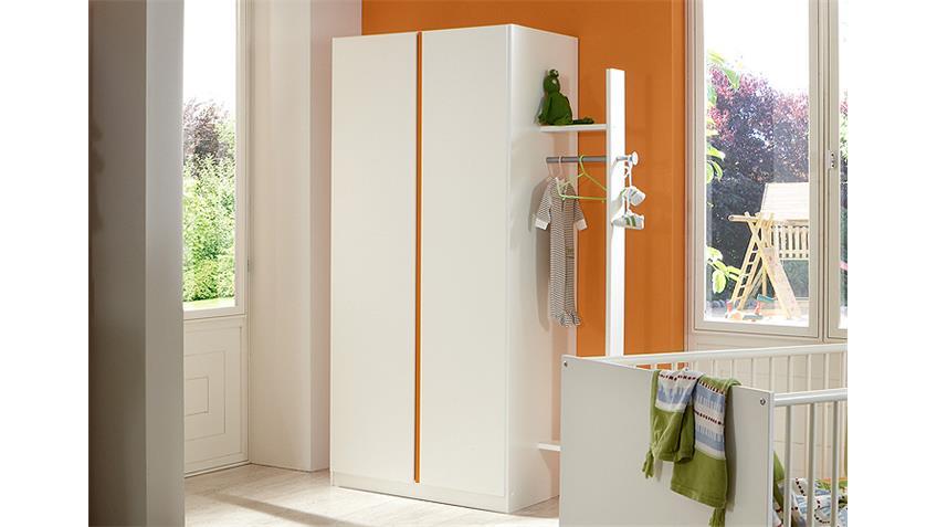 Babyzimmer BIBI 4-teilig weiß und orange