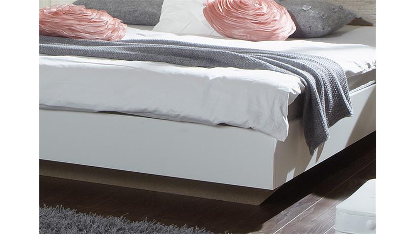 Futonbett FRANZISKA Weiß/ Wildeiche 160x200 cm