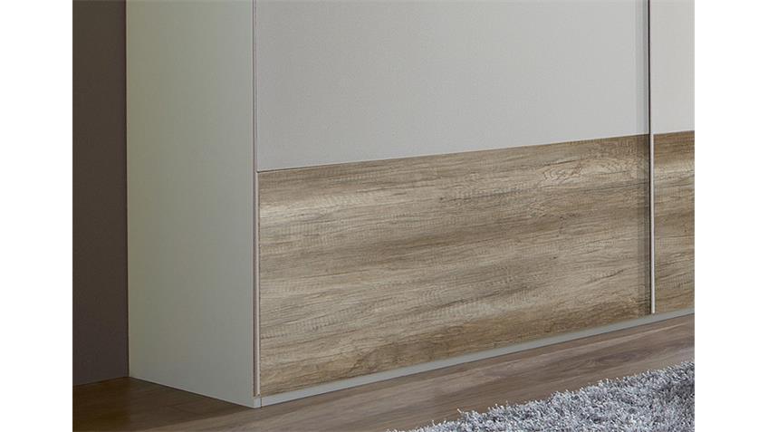 Schwebetürenschrank FRANZISKA Weiß/ Wildeiche 180 cm