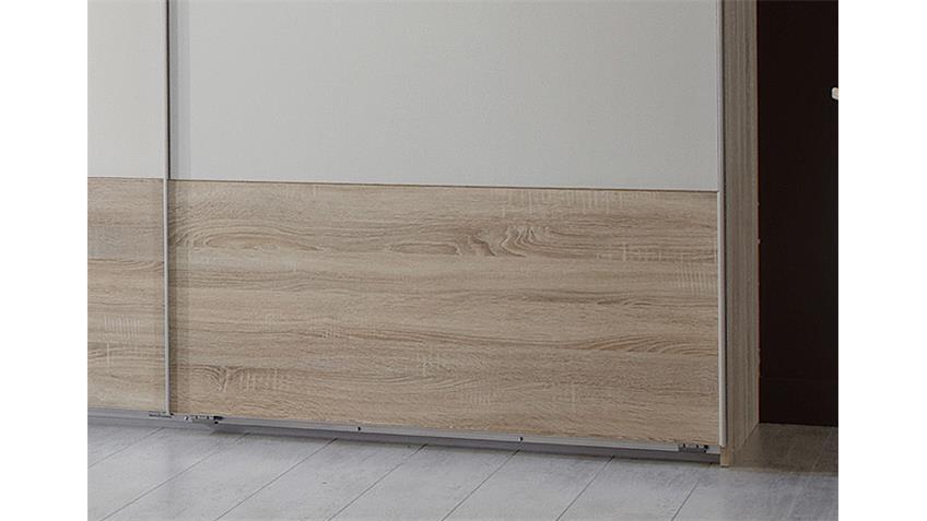 Schwebetürenschrank FRANZISKA Sonoma Eiche und weiß 270 cm