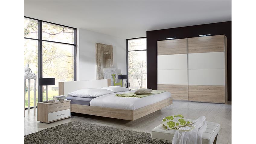 Schlafzimmer Set FRANZISKA Sonoma Eiche sägerau/ Weiß 4 TLG