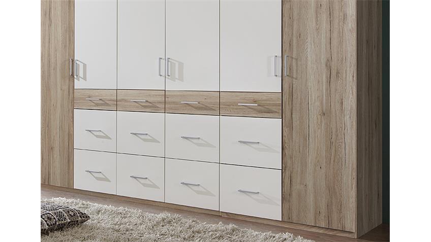 Kleiderschrank CLICK 2 Sonoma Eiche Sägerau Weiß 270
