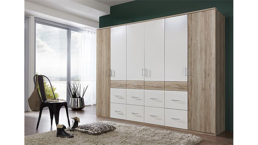 kleiderschrank click 2 san remo eiche wei 270. Black Bedroom Furniture Sets. Home Design Ideas