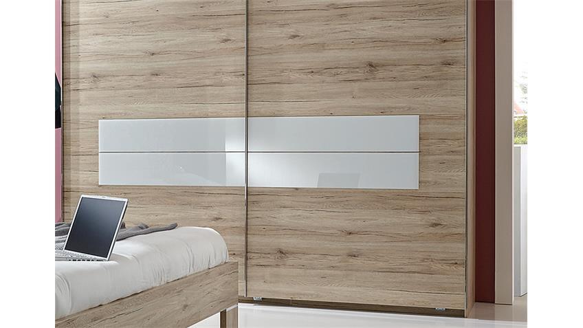 Schlafzimmerset WINNER San Remo Eiche Weiß