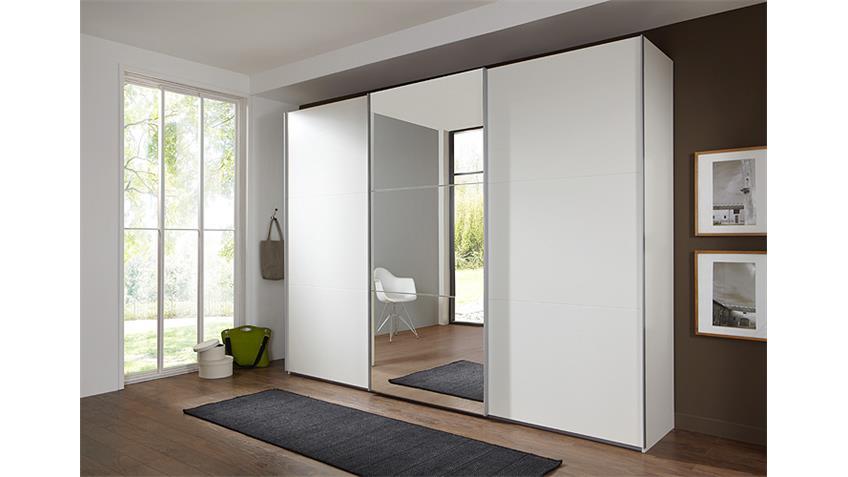 Schwebetürenschrank MATCH UP weiß Spiegel 360x236 cm