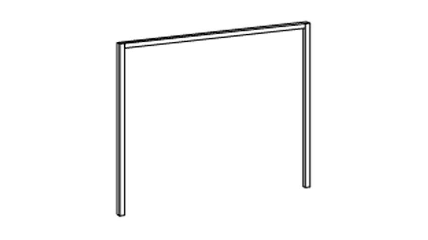 Passepartoutrahmen DIVER Weiß für Schrank B 225 cm
