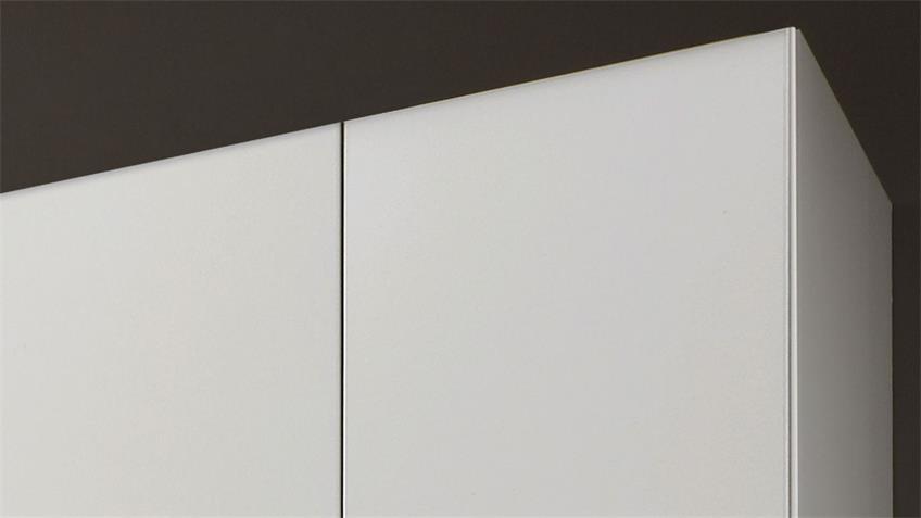Kleiderschrank FREIBURG in Weiß mit Spiegel B 225 cm