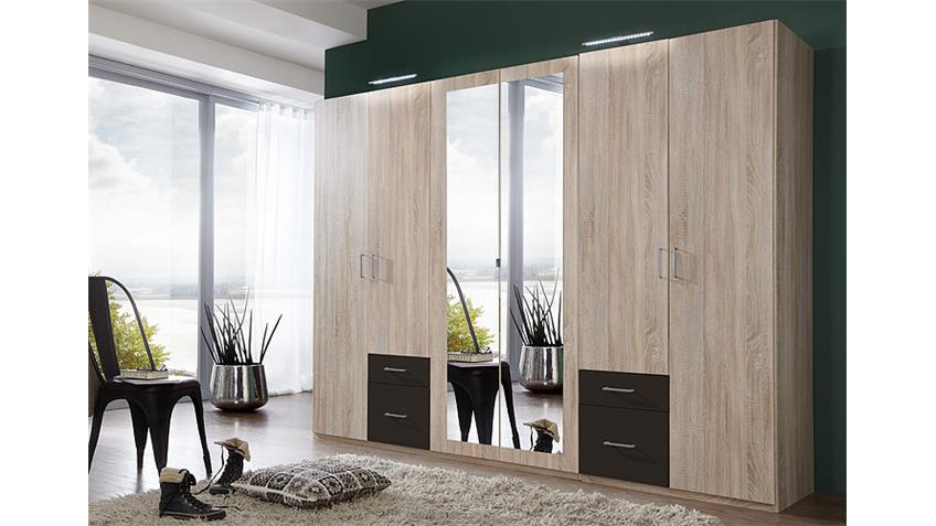 kleiderschrank freiburg in eiche s gerau lava spiegel b 270 cm. Black Bedroom Furniture Sets. Home Design Ideas