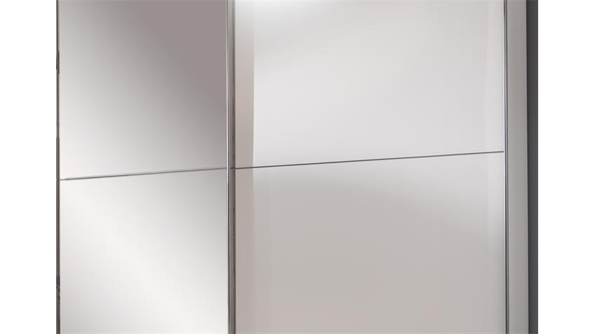 Schwebetürenschrank Escape Alpinweiß mit Spiegel 300 cm