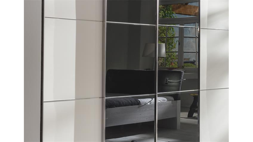 schwebet renschrank escape alpinwei glasfront grau 300 cm. Black Bedroom Furniture Sets. Home Design Ideas