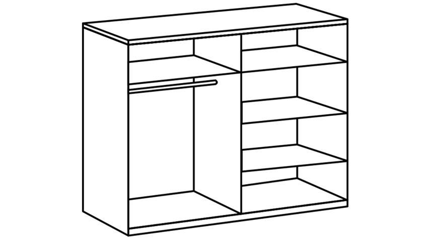 Schlafzimmer Set Franziska Weißeiche Anthrazit 4 teilig