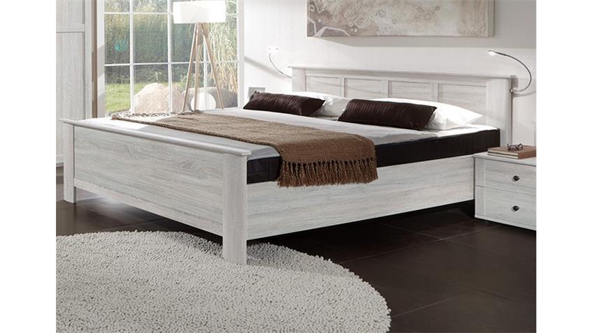 Kompaktbett Chalet Weißeiche 180x200 cm höhenverstellbar