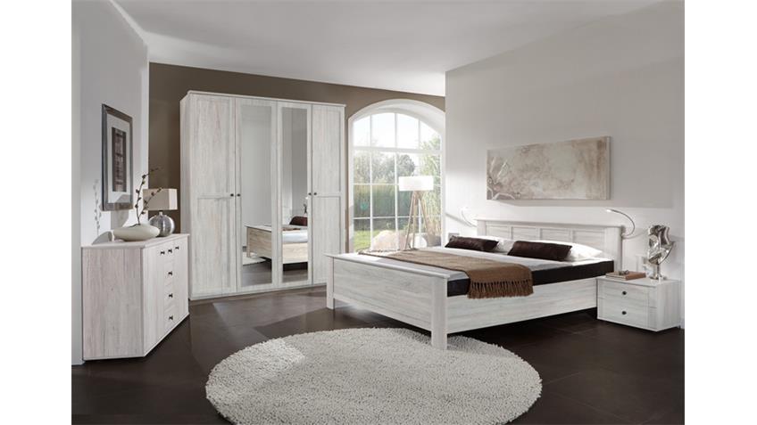 Schlafzimmer Kombi 3 Chalet in Weißeiche mit Spiegel