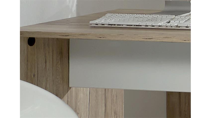 Schreibtisch Joker in San Remo-Eiche und Alpinweiß