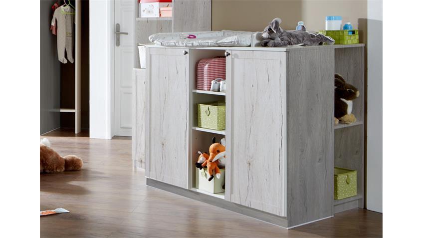 Babyzimmerset Filou 8 teilig Bett Schrank Kommode Weißeiche
