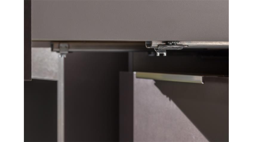 Kommode Level Up breit 2-türig lavafarbig