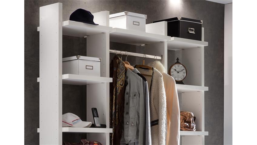 Garderobe klein Level Up in Alpinweiß mit 2 Kommoden