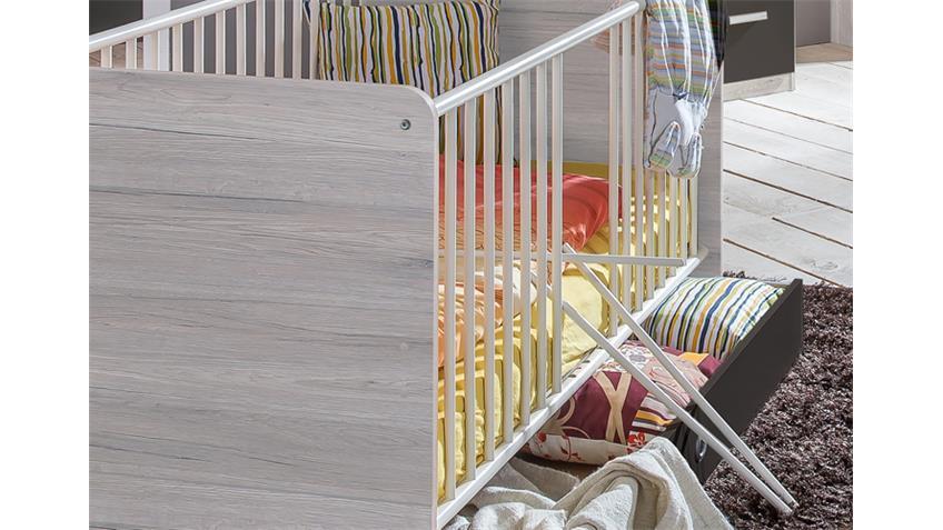 Babybett Cariba Weißeiche inklusive Bettkasten