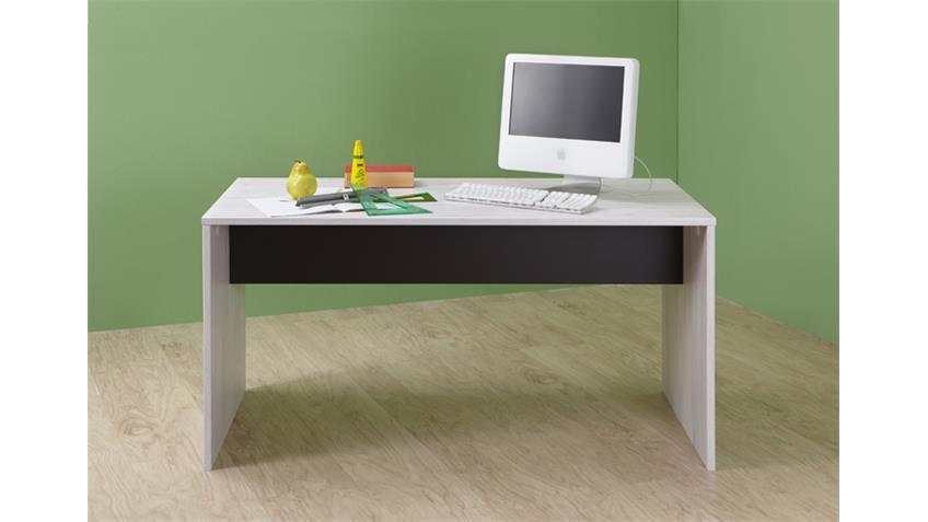 Schreibtisch Cariba Weißeiche Abs. Lavafarbig