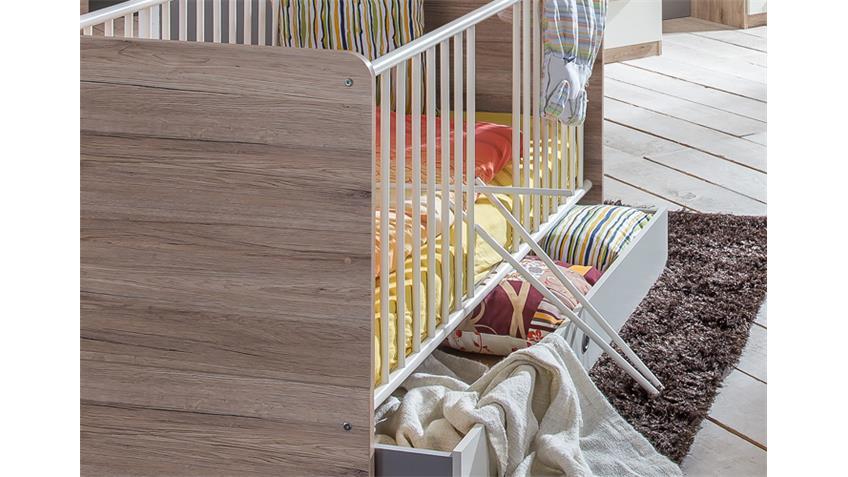 Babybett Cariba San Remo-Eiche inklusive Bettkasten