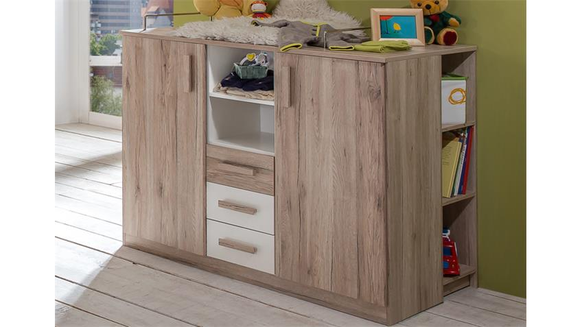 babyzimmer 2 cariba 9 tlg san remo eiche kleiderschrank 2 t rig. Black Bedroom Furniture Sets. Home Design Ideas