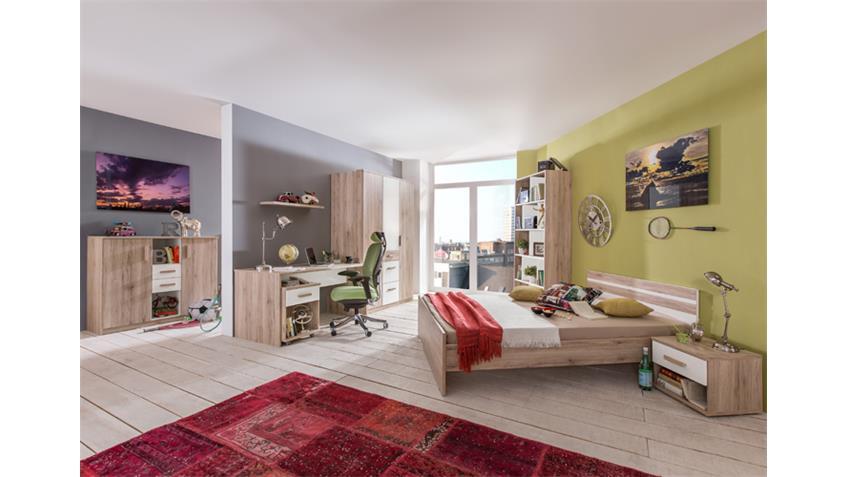 Jugendzimmer 1 Cariba 8 tlg. San Remo-Eiche