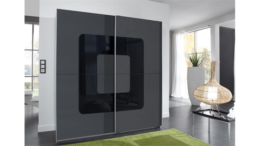 kleiderschrank curve 2 t rig anthrazit alu 180 cm. Black Bedroom Furniture Sets. Home Design Ideas