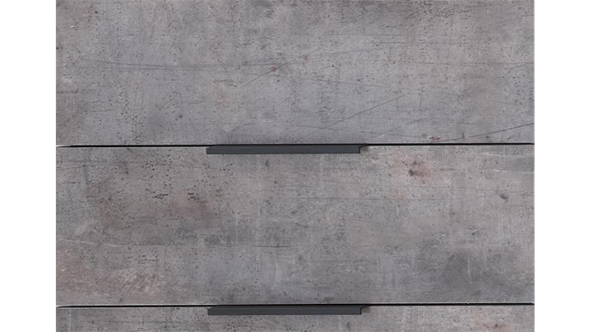 Kommode Cargo Alpinweiß Betonfarbig