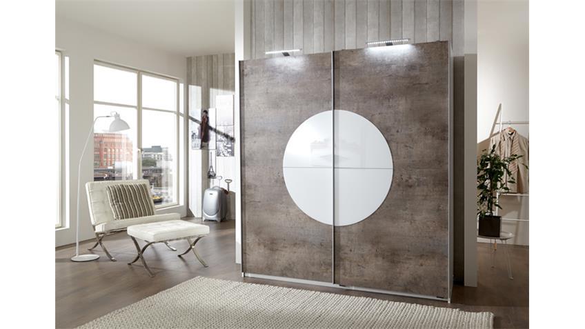 kleiderschrank round up alpinwei beton 180 cm. Black Bedroom Furniture Sets. Home Design Ideas