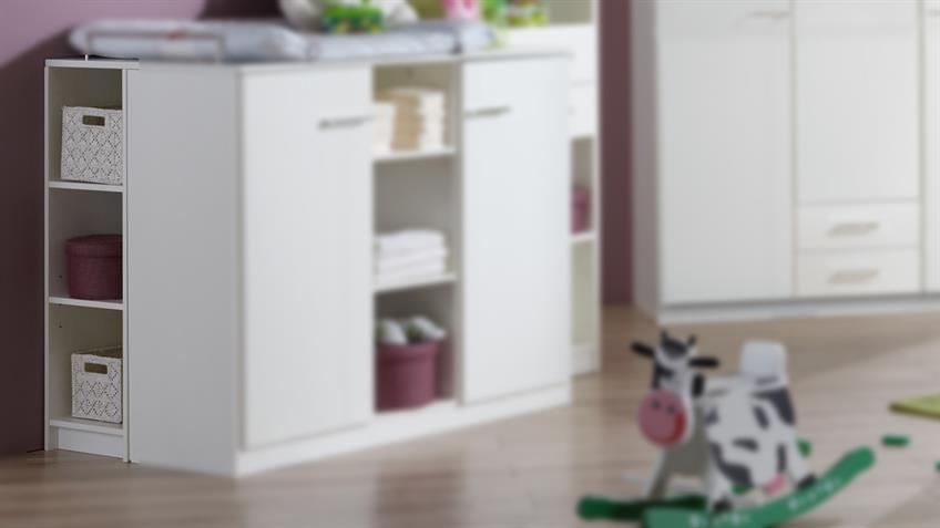 Unterschrank für Wickelkommode Babyzimmer ELENA weiß