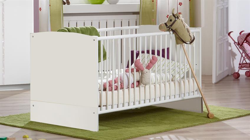 Babybett ELLY weiß 70x140 cm Schlupfsprossen
