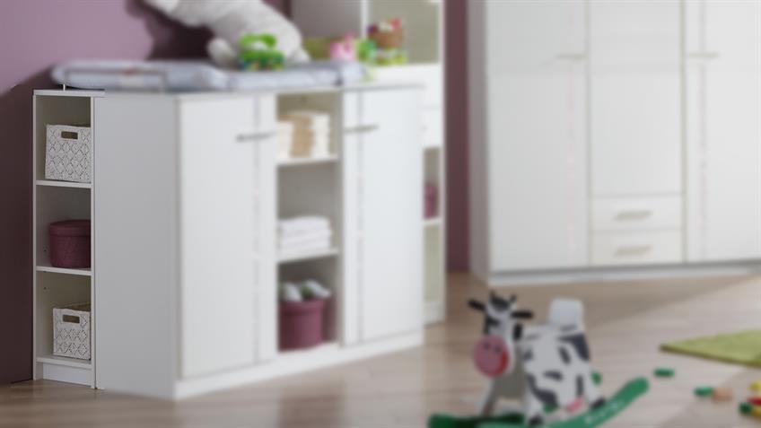 Unterschrank für Wickelkommode Babyzimmer ELLY weiß