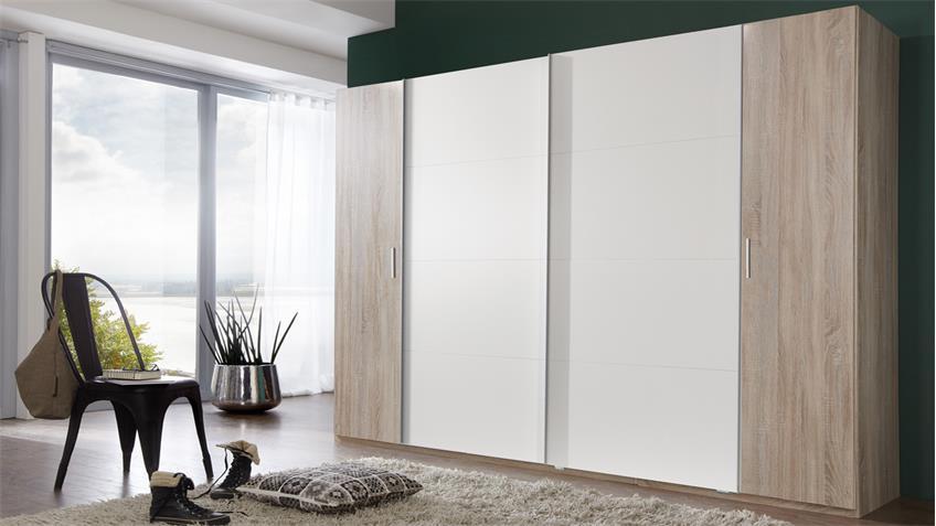 kleiderschrank lotto eiche s gerau alpinwei b 270 cm. Black Bedroom Furniture Sets. Home Design Ideas
