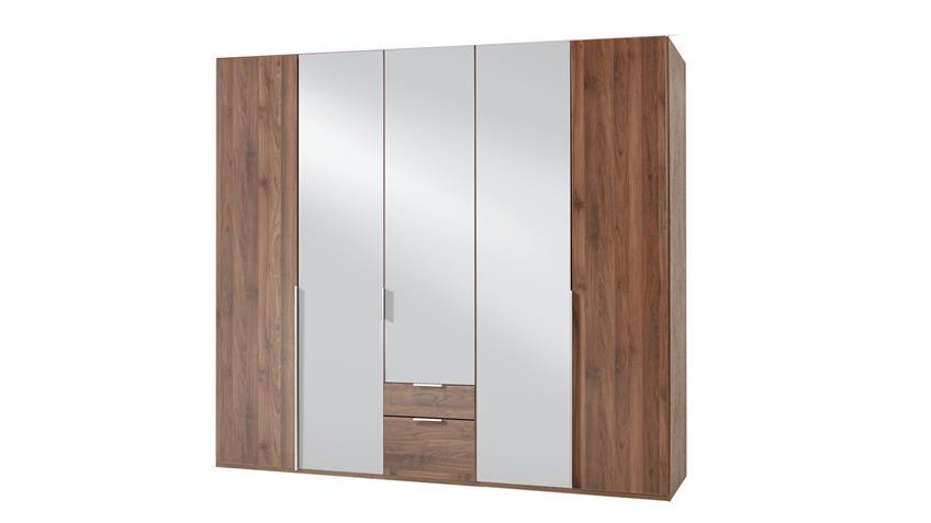 Kleiderschrank NEW YORK A in Nussbaum 225 cm
