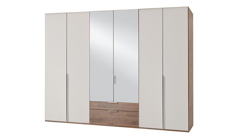 Kleiderschrank NEW YORK A in Prosecco und Nussbaum 270 cm