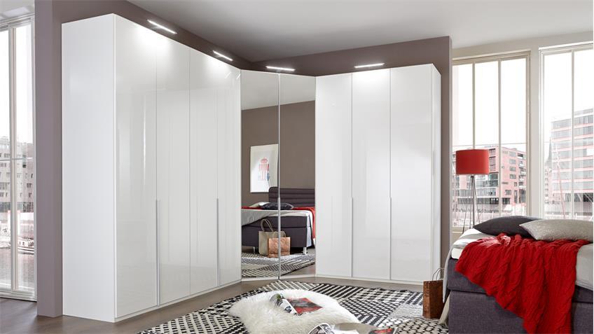 eckschrank new york d in pearlglanz softwhite mit spiegel. Black Bedroom Furniture Sets. Home Design Ideas