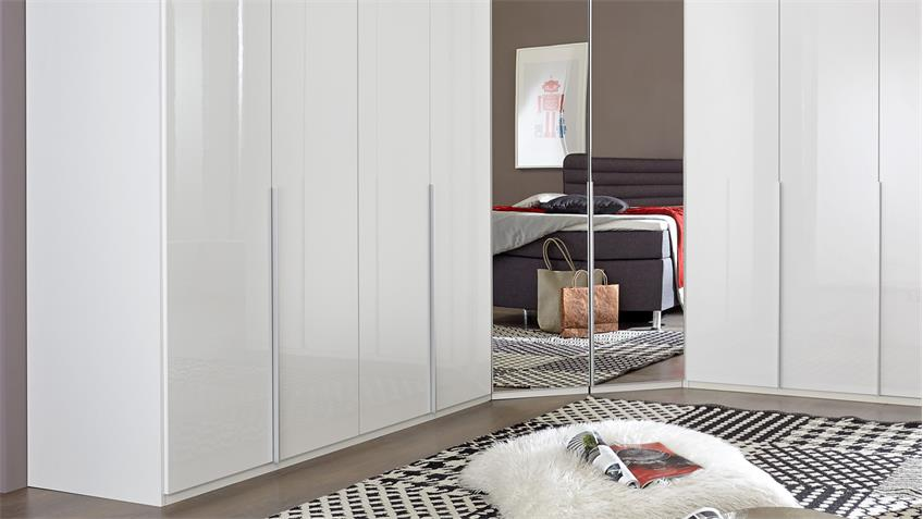 eckschrank new york d in pearlglanz softwhite mit spiegel. Black Bedroom Furniture Sets. Home Design Ideas